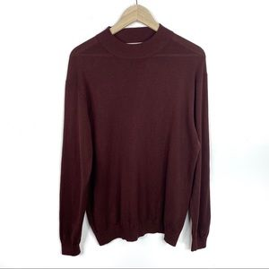 Pronto Uomo Crewneck Lightweight Maroon Sweater